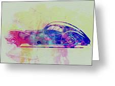 Bugatti Atlantic Watercolor 3 Greeting Card by Naxart Studio