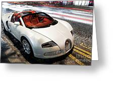 Bugatti Is Art In Motion  Greeting Card