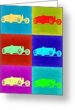 Bugatti Type 35 R Pop Art 2 Greeting Card by Naxart Studio