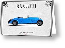 Bugatti Type 44 1927 Greeting Card