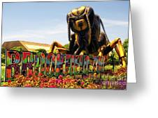 Bugs At Brookfield Zoo Signage Greeting Card