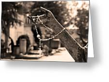 Buiatti Memorial Marker Detail Monumental Cemetery Sepia Greeting Card