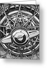 Buick Skylark Wheel Black And White Greeting Card