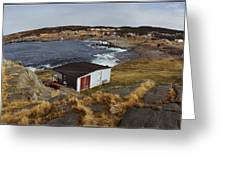 Build On Ocean Cliff Greeting Card