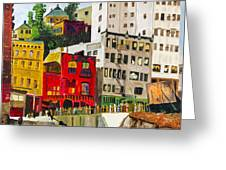 Building A City By Stan Bialick Greeting Card