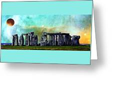 Building A Mystery 2 - Stonehenge Art By Sharon Cummings Greeting Card