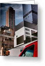 Tribute To Leger 3 - Building Blocks - Architecture Of New York City Greeting Card