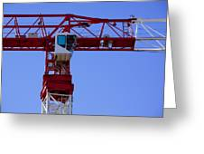 Building Crane Greeting Card