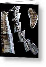 Building Desending A Staircase - 200050 Greeting Card