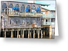 Building On Piles Above Water Greeting Card by Lorna Maza
