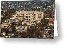 Building On Queen Anne Seattle Washington Greeting Card