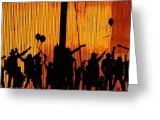 Building Silhouettes In Color Greeting Card