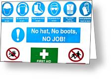 Building Site Safety Greeting Card by Tom Gowanlock
