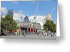 Building Work In The City Of London Greeting Card