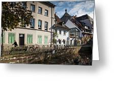 Buildings Along Canal, Altstadt Greeting Card