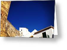 Buildings And Blue Sky Greeting Card