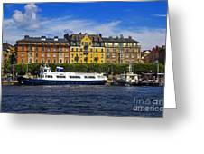Buildings And Boats Greeting Card
