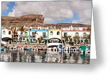 Buildings At The Waterfront, Puerto De Greeting Card
