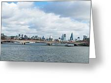 Buildings At The Waterfront, Thames Greeting Card