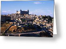 Buildings In A City, Toledo, Toledo Greeting Card