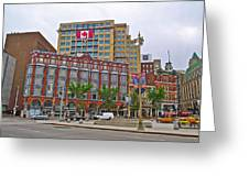 Buildings Near War Memoriall In Ottawa-on Greeting Card