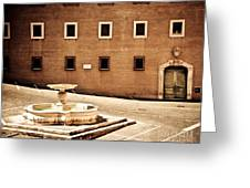 Buildings Of Rome Iv Greeting Card
