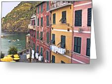 Buildings Of Vernazza Greeting Card