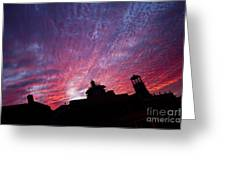 Builings In The Sky Greeting Card