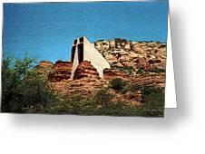 Built Upon Rock Greeting Card