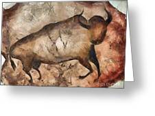 bull a la Altamira Greeting Card