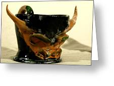 Bull Cup Greeting Card