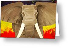 Bull Elephant Prime Colors Greeting Card