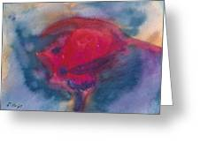 Bull Fight Abstract Greeting Card