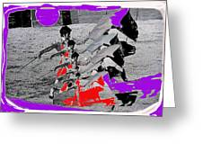 Bull Fight Matador Charging Bull Collage Us-mexico Mexico Border Town Nogales Sonora Mexico   1978-2 Greeting Card