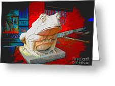 Bull Frog Painted Greeting Card