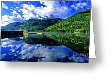 Bull Lake In Fall Greeting Card