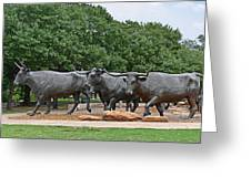 Bull Market Greeting Card by Christine Till