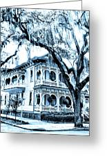 Bull Street House Savannah Ga Greeting Card