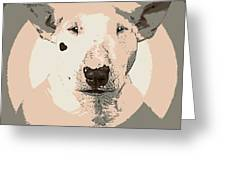 Bull Terrier Graphic 1 Greeting Card