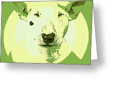 Bull Terrier Graphic 2 Greeting Card