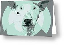 Bull Terrier Graphic 3 Greeting Card