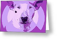 Bull Terrier Graphic 5 Greeting Card