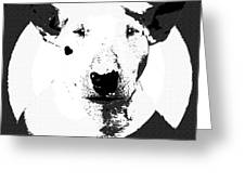 Bull Terrier Graphic 6 Greeting Card
