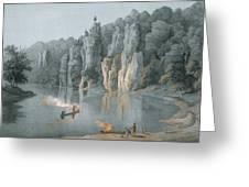 Bullard Rock On The New River Greeting Card