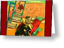 Bullfight Poster Greeting Card