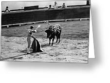 Bullfighter And The Lady Homage 1951 Bullfight Nogales Sonora Mexico Greeting Card