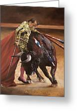 Bullfighter Greeting Card