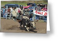 Bullrider Greeting Card