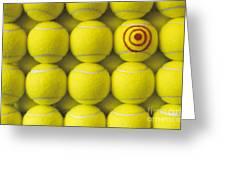 Bullseye Tennis Balls Greeting Card