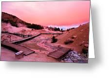 Bumpass Hell Sunset Greeting Card